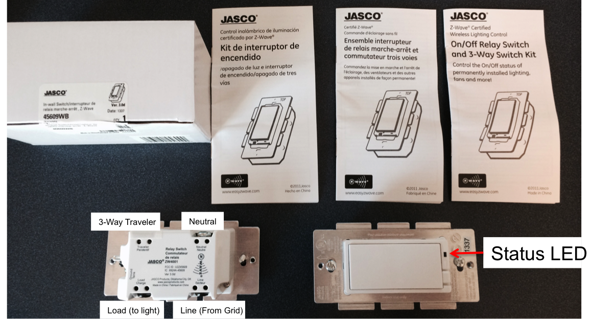 Home Automation With Zwave And The HomeTroller Zee Part 3 IoT - Jasco Relay Switch