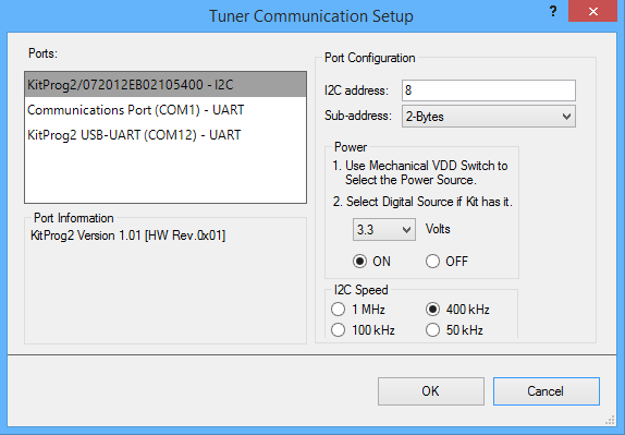 tuner-comm-setup