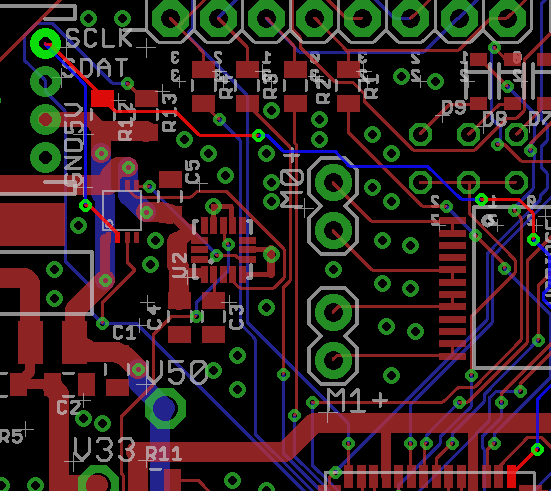 An example of proving a network using the Eagle PCB eye tool to look for more than 2 vias on a net.