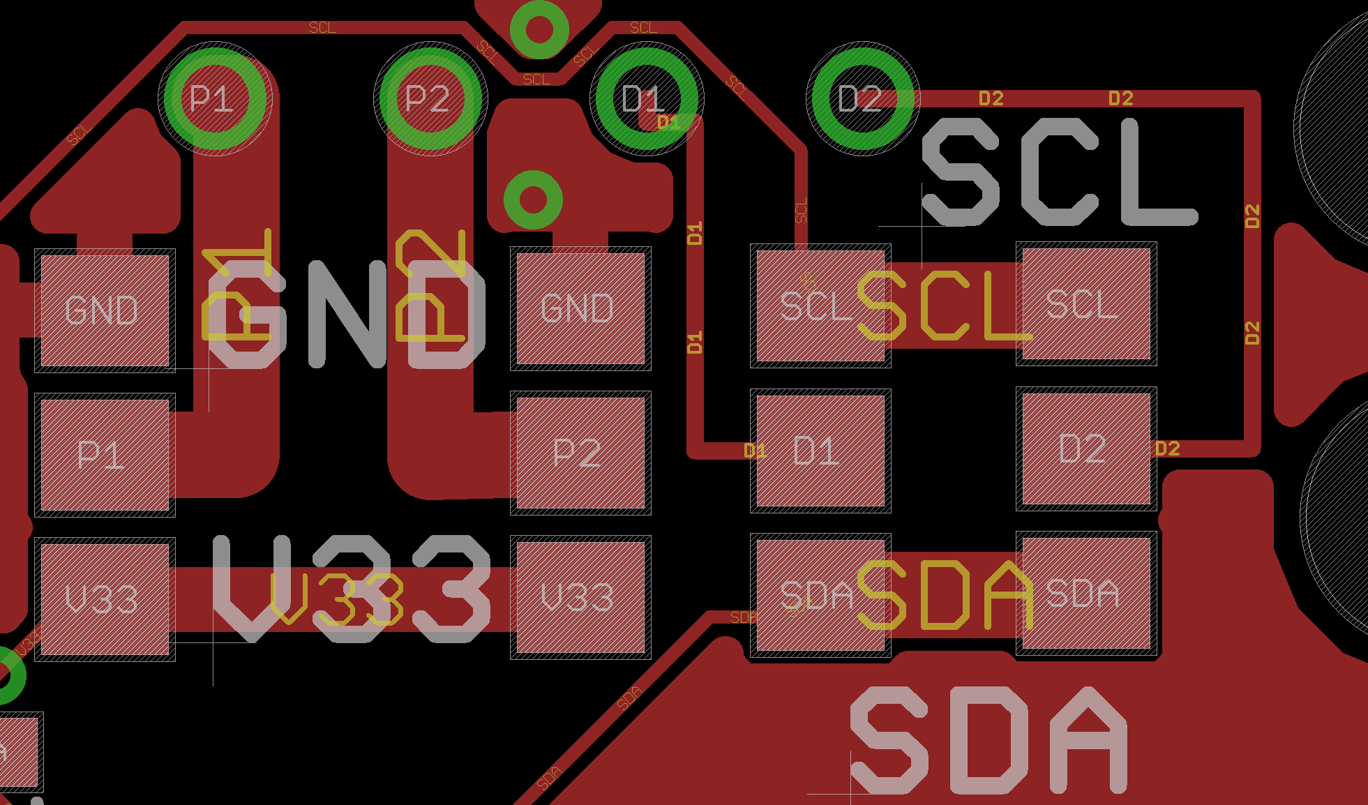 PCB Layout with 0 Ohm Resistors to select SDA/SCL and GND/VCC