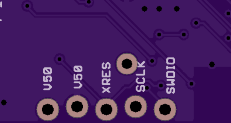 silkscreen error in original PCB layout