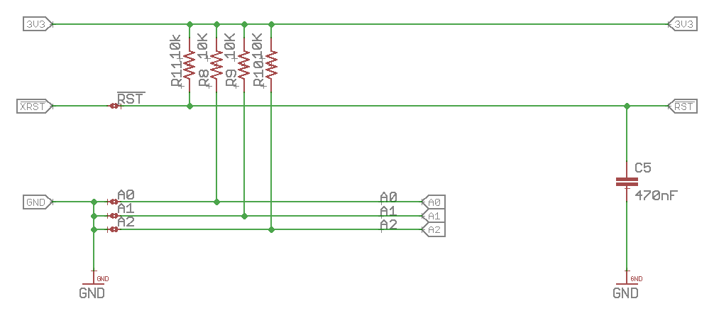 ThingSoC Schematic for PCA9546A Address Selection