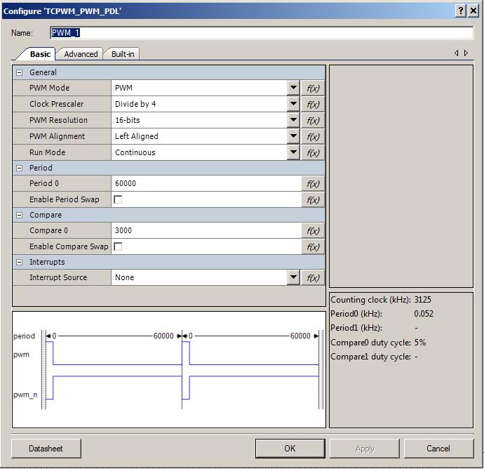 Configure the TCPWM