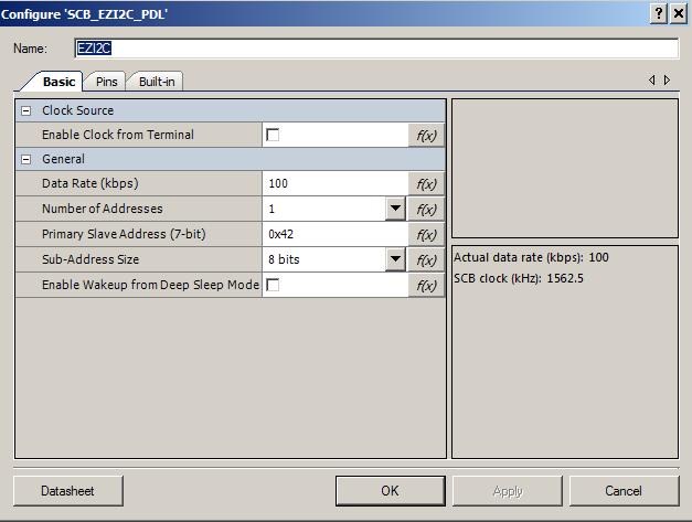 Configuring the EZI2C