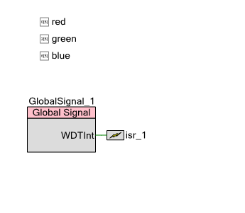 PSoC4 Watch Dog Timer: Custom ISR Schematic