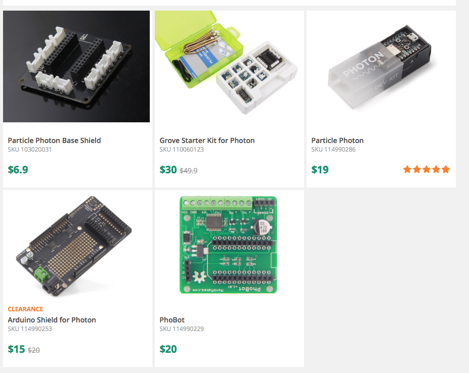 SeeedStudio Photon Kits