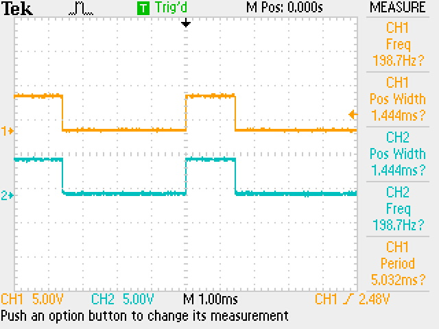 tek output of PSoC 5 Timer