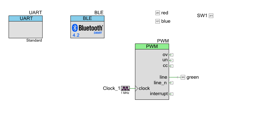 PSoC4 BLE Central Schematic