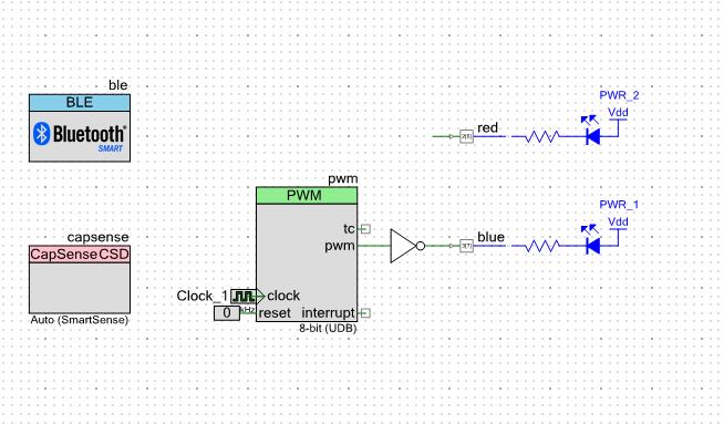 PSoC4 BLE CapSense LED Peripheral