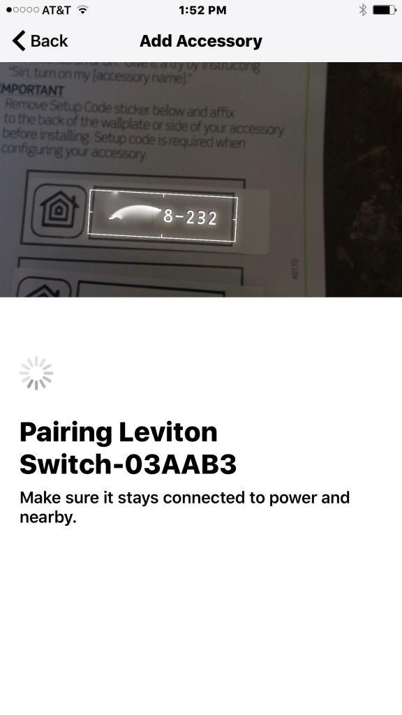 Leviton HomeKit Decora App