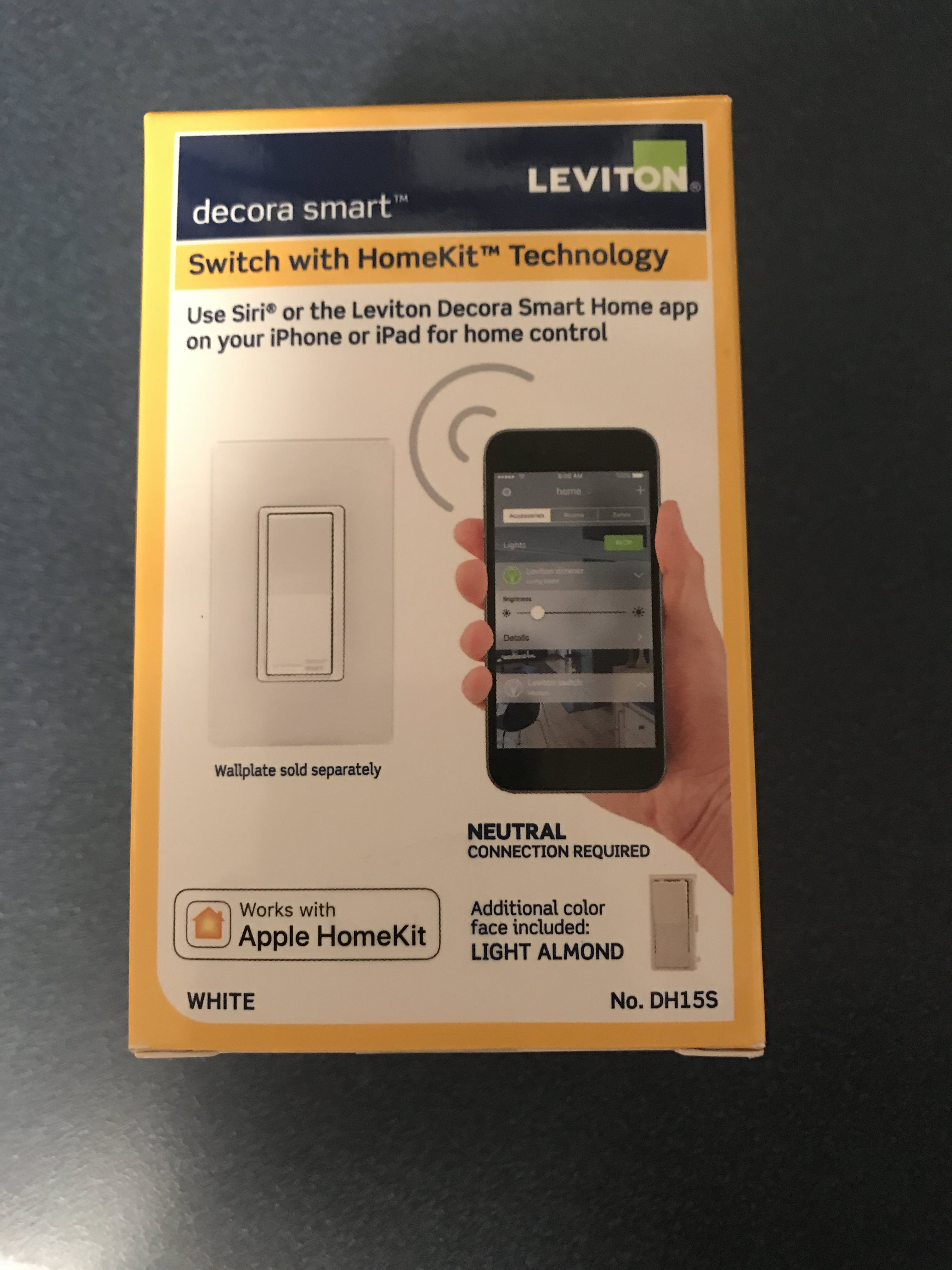 Leviton HomeKit D15S Light Switch - WICED WiFi - IoT Expert