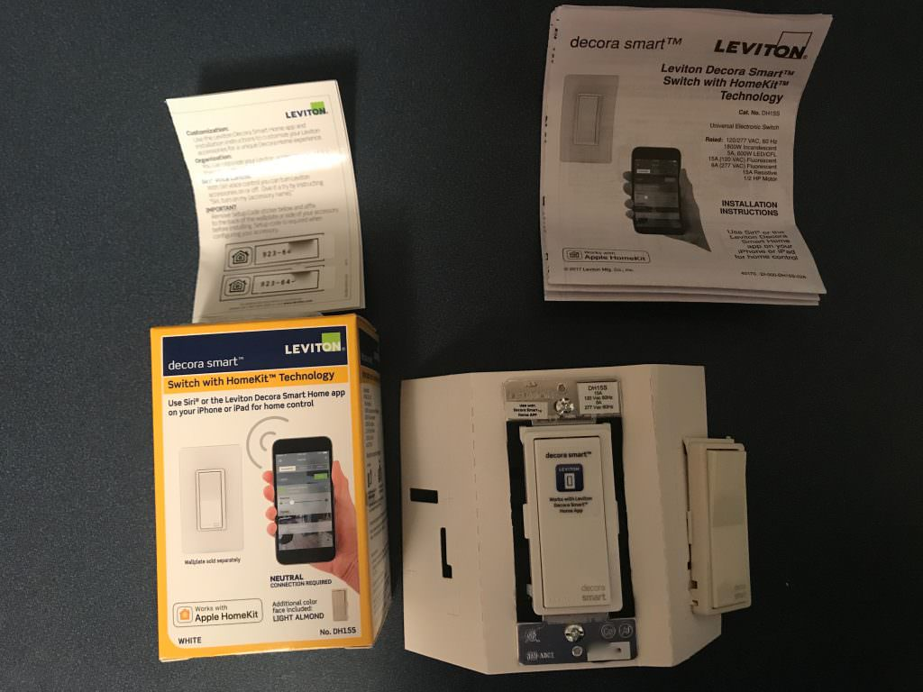 Leviton HomeKit inside the box