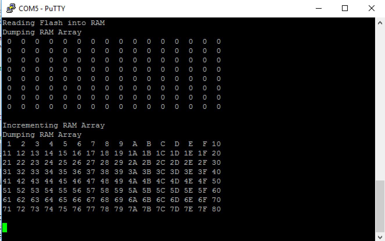 PSoC 4 Flash Write Demo