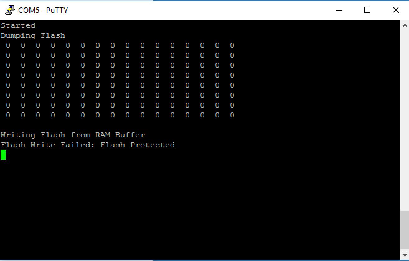 PSoC 4 Flash Write Fail