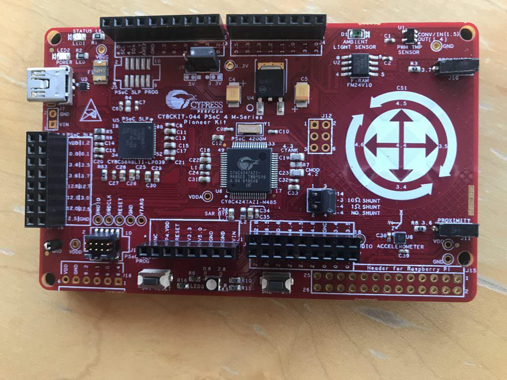 CY8CKIT-044 with FM24V10 FRAM