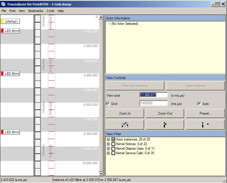 Percepio Tracelyzer - Console