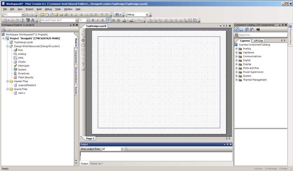 PSoC Creator Blank Project