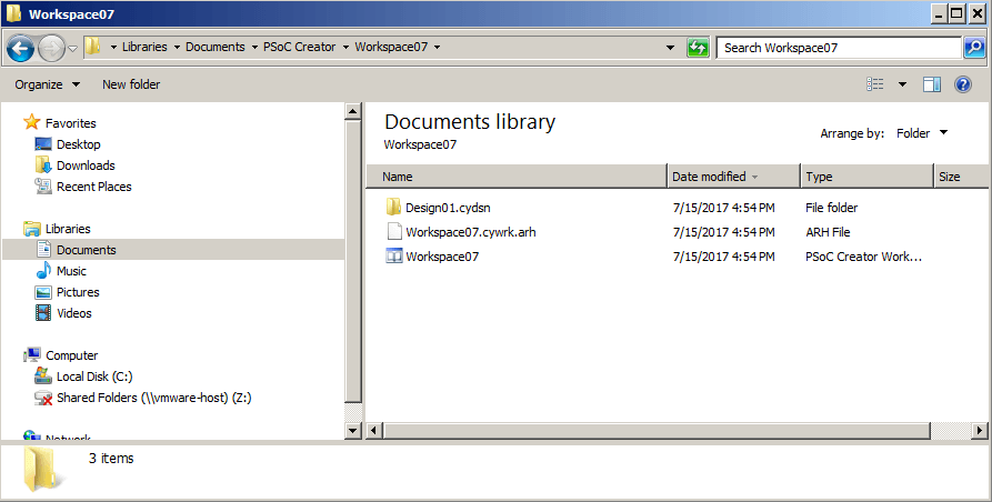 PSoC Creator files in Windows Explorer