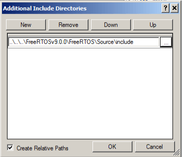 PSoC Creator - FreeRTOS Include Path