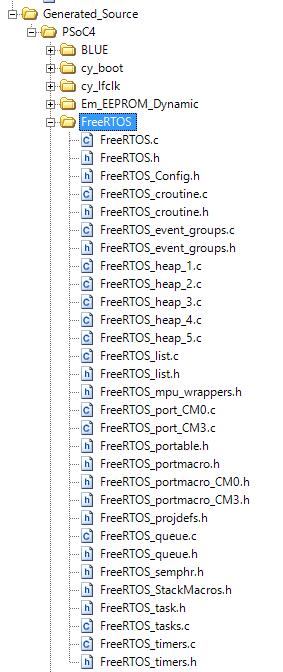 FreeRTOS PSoC Component API