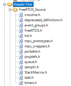 FreeRTOS PSoC Template PSoC Creator Header Files
