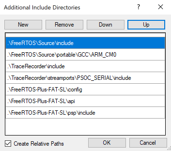 FreeRTOS FAT SL Include Files