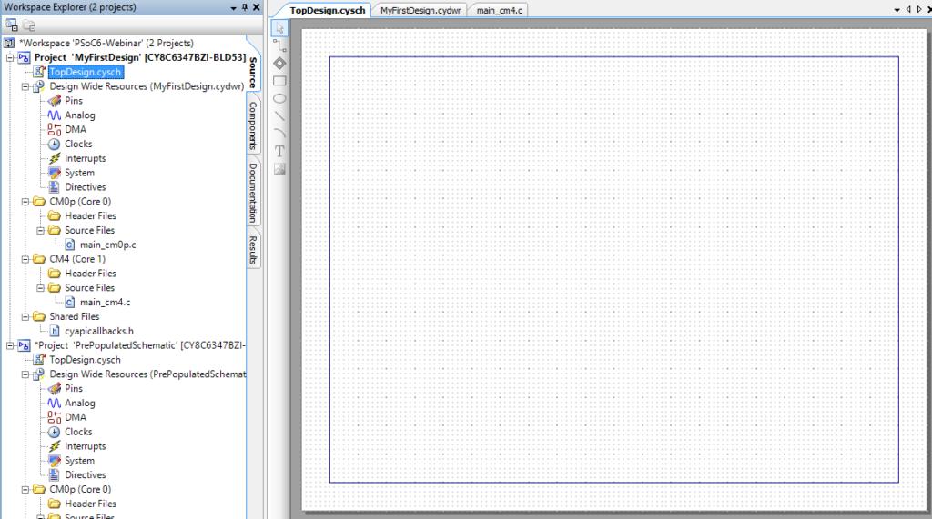 PSoC Creator Schematic Editor