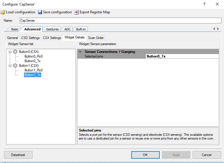 PSoC 6 Setup CapSense Tx