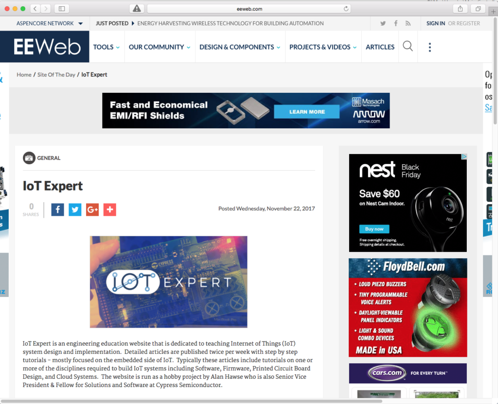 IoTExpert on EEWEB