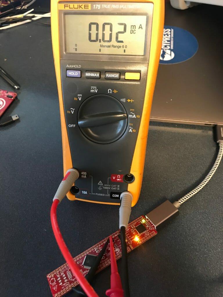 PSoC 4200M Low Power Measurement with Fluke