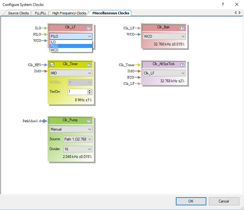 PSoC 6 Clock Configuration