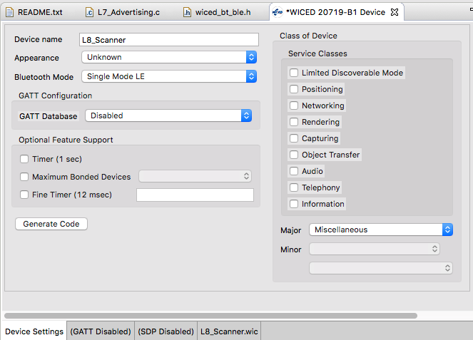 Lesson 8 - WICED Bluetooth: The Advertising Scanner - IoT Expert