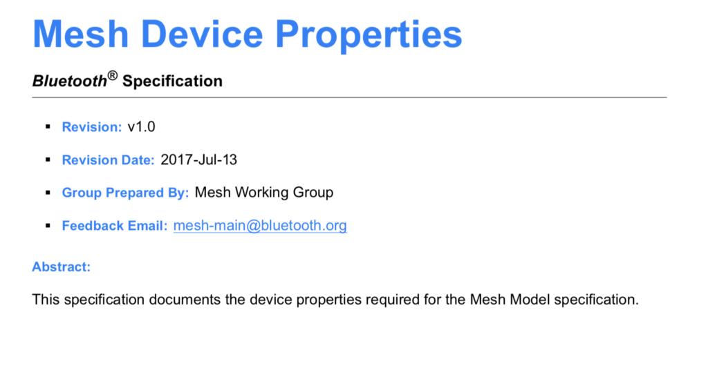 Mouser Bluetooth Mesh: L1 Developer Resources - IoT Expert