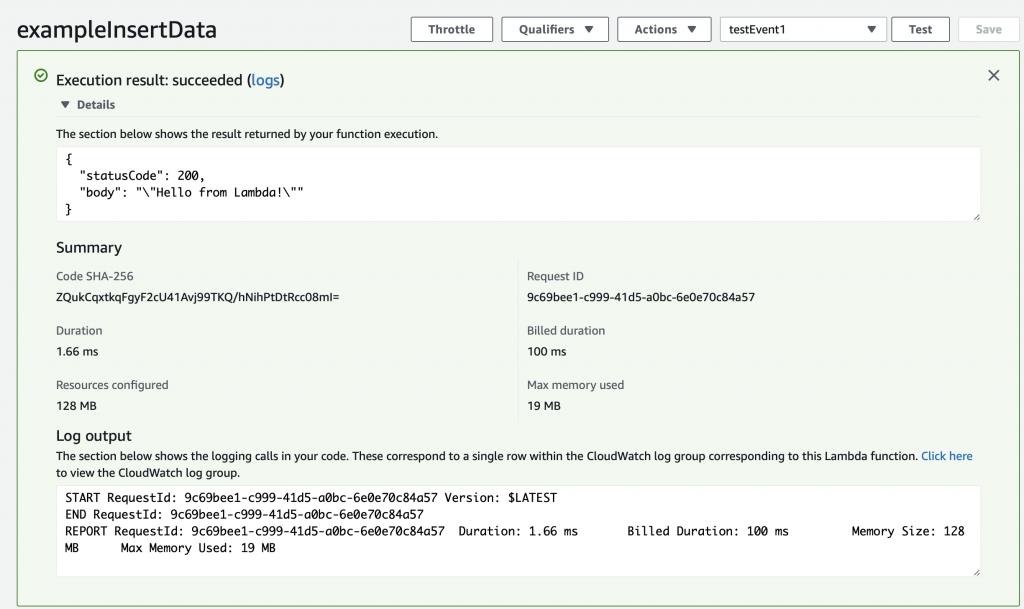 The Creek 2 0: AWS Lambda Function - IoT Expert